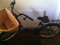 Cruiser with wicker basket